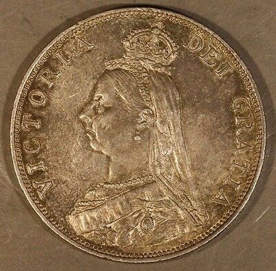 1889 Great Britain Double Florin High Quality Coin      ** FREE U.S. SHIPPING **
