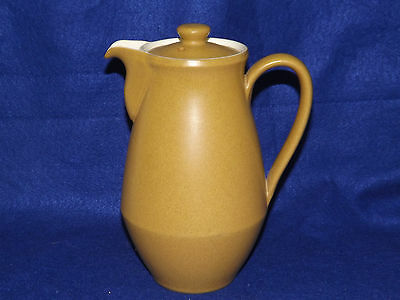 Vintage Denby Langley Ode Coffee Pot Stoneware Made In England