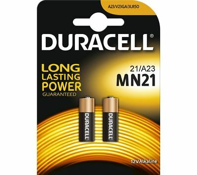 2 Pcs Duracell A23 23A, A23BP, GP23, MN21, 21/23 12V Alkaline Battery