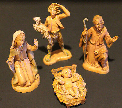 Vintage Lot of 4 Fontanini Mary Joseph Jesus & Shepherd Figures Nativity