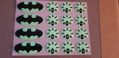 Delkim txi plus ev domed bat kit glow in the dark stickers decals