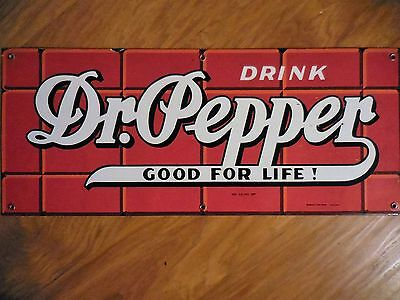 PORCELAIN  DR. PEPPER SIGN  1940's