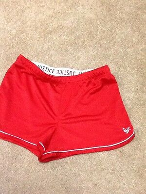 Justice Girls Sz 18 Red Shorts New