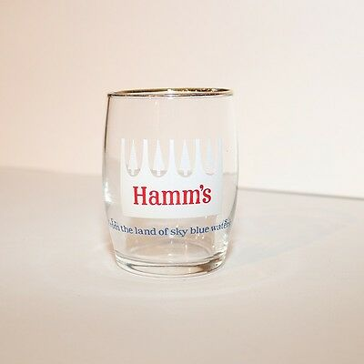 """Hamm's Beer Barrel Glass White Pines - Height 3 1/4"""""""