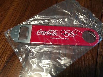 New Coca Cola 2016 Olympic Speed Blade Bottle Opener Coke Coated Stainless