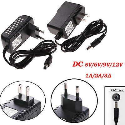AC 100-240V Converter Adapter to DC 12V/9V/6V/5V 1/2/3A Power Supply LED Strips