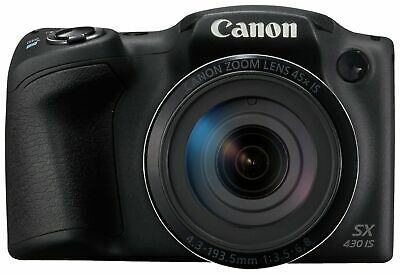 Canon Powershot SX430 IS 20MP 45x Zoom 3 Inch Screen WiFi Bridge Camera - Black