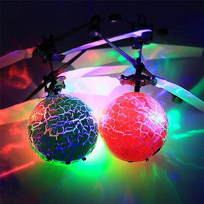 Electric RC Fly Ball Infrared Induction Aircraft Flash LED Light Remote Toy
