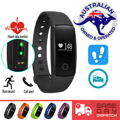 ID 107 HR Smart Fitness Band Activity Tracker Pedometer FitBit Style Heart Rate