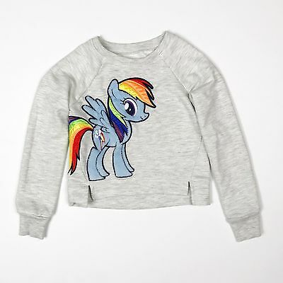 My Little Pony Appliqued Embroidered Girls Light Sweatshirt Size XS 4/5