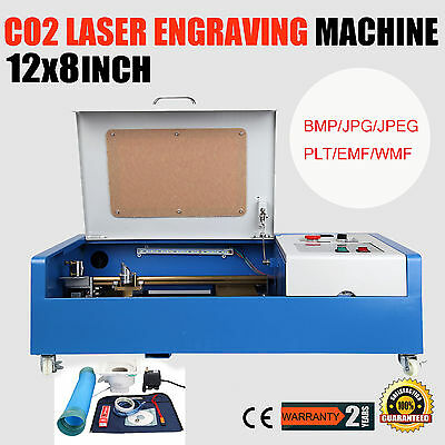 High Precise 40W CO2 Laser Engraving Cutting Engraver Cutter Machine USB Port
