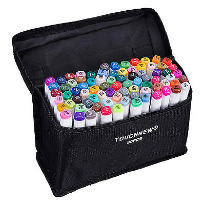 TOUCHNEW 80 Colors Artist Dual Head Sketch Markers Set For Manga Marker Sch C8M8