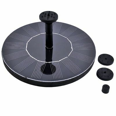 7V Solar Panel Powered Round Floating Fountain Garden Pool Pond Water Pump Decor