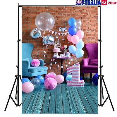 Sweet Birthday 5x7FT Photography Backdrop Wall Wood Floor Photo Background Props