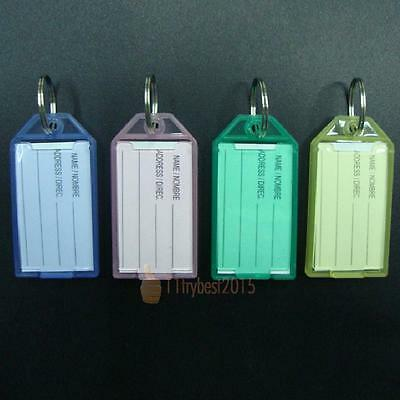 40x Travel Luggage Bag Tag Plastic Suitcase Baggage Office Name Address ID Label