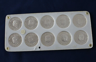 1989 Tunisia Proof Silver Habib Bourguiba 1 Dinar Set of 10 Coins M1214