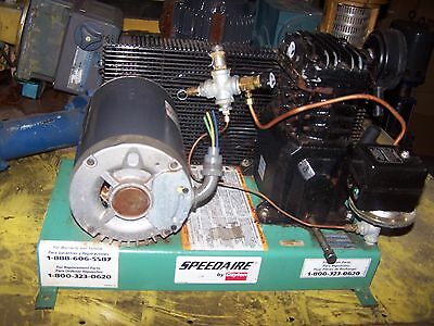 Speedaire 3 Hp Air Compressor Pump Motor 12.3 Scfm 40 Psi Max Vt470000Av