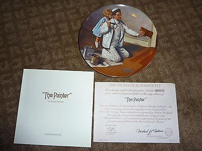 """Norman Rockwell """"The Painter"""" 8.5"""" Plate"""