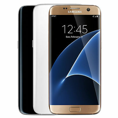 Samsung Galaxy S7 Edge 32GB LTE GSM Android Phone Factory Unlocked Black Gold