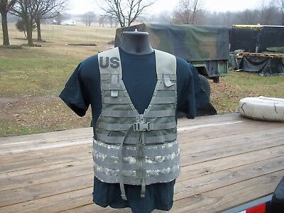 Military Surplus  Load Carrier Vest Molle Ii Acu Army Camping Hunting Adjustable