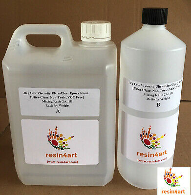 3kg Ultra-Clear Low Viscosity Non-Toxic Epoxy Resin for Fibreglass Applications