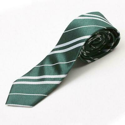 New Harry Potter Slytherin House Cosplay Costume Necktie Silk Tie with crest