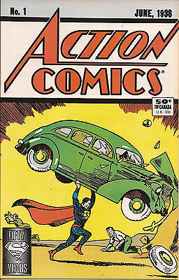 Action Comics 1 DC 1988 Reprint 1st appearance Superman cover gallery iconic VF-