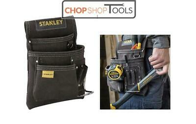 STANLEY Leather Nail,Hammer,Tool Belt Pouch Holder, Apron, Hammer Loop STA180114