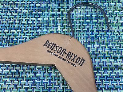 Vintage WOOD CLOTHES HANGER FROM BENSON RIXON STORE CLOSED IN 1964