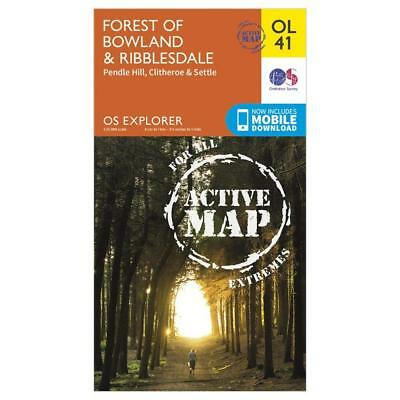 Os Explorer Active Ol41 Forest Of Bowland & Ribblesdale Map Walking