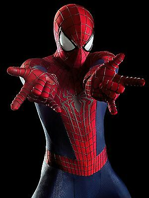 "Replica del costume di "" amazing spiderman 2 "" , stampa su lycra con effetto 3d"