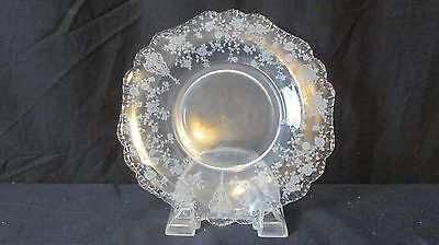 "5 Cambridge Glass ROSE POINT CLEAR 7 1/2"" Salad Plates"