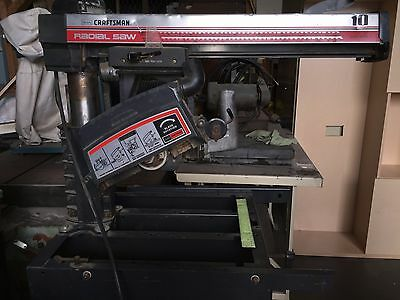 """Craftsman 10"""" Radial Arm Saw with Stand, 2.5HP Motor, Model 113.199250"""