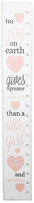 Wooden Height Chart For Children With Poem ~ Pink Girls Height Chart