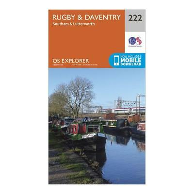 Os Explorer 222 Rugby Daventry Southam & Lutterworth Map Walking