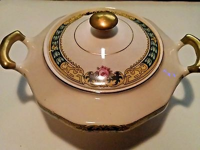 """The Edwin M. Knowles / *Marked with """"IVORY"""" / 29-1-5 / 6"""" Bowl w/Handles & Lid"""