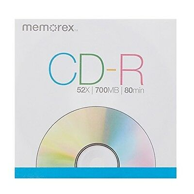 Memorex 700MB/80-Minute 52x Data CD-R for Media and Music