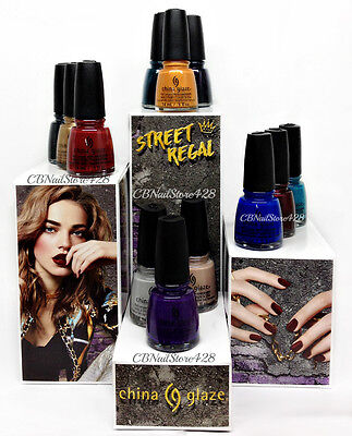 China Glaze Nail Lacquer - STREET REGAL Fall 2017  Collection - Pick Color