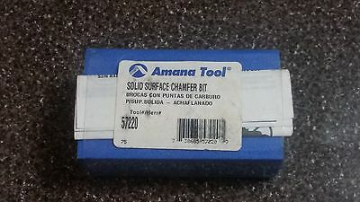 Amana Tool 57220 Router Bit -- Solid Surface Chamfer Bit