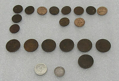 Nice Collector Lot of 19 Early Canadian Coins - Different Denominations!