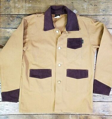 Vintage 90's Light Brown Welding Barn Coat Jacket by LAPCO U.S.A Youth 16 (S1)
