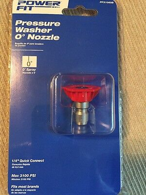 "PowerFit QC Pressure Washer Nozzle PF31060B 1/4"" Quick Connect NEW"