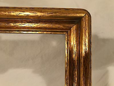 Large Antique Arts & Crafts Newcomb Macklin Style Gold Leaf Picture Frame