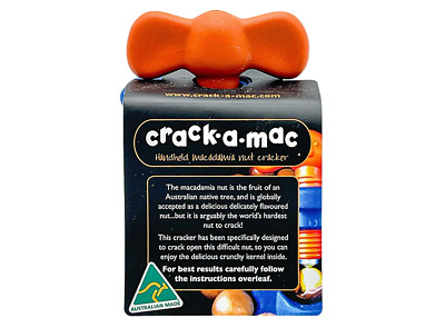NEW Crack A Mac Handheld Macadamia Nutcracker Nut Cracker Sheller Opener