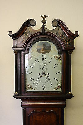 WILSON DIAL 8 DAY OAK  LONGCASE CLOCK by W NOON ASHBY-de-la-ZOUCHE 1790