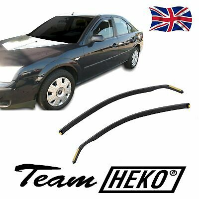 FORD MONDEO mk3 2001-2007 SET OF FRONT WIND DEFLECTORS HEKO TINTED 2pc