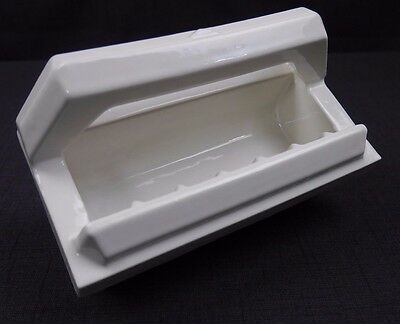 Antique Vintage Fairfacts BiltIn F-196 White Soap Dish with Bar 1940's #1