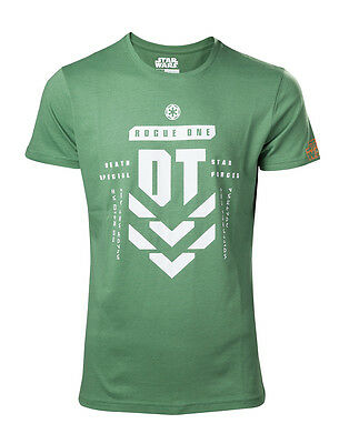 Licensed Star Wars Rogue One Unisex Green T Shirt Death Star Special Forces