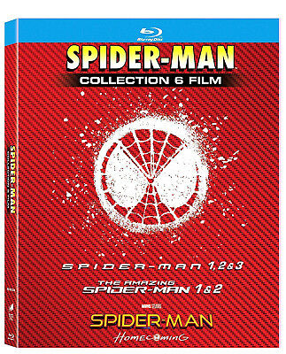 SPIDER-MAN COLLEZIONE COMPLETA 6 FILM (6 BLU-RAY + GADGET) Spider-man Homecoming