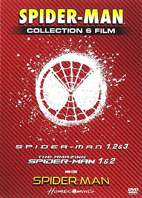 SPIDER-MAN COLLEZIONE COMPLETA 6 FILM (6 DVD + GADGET) con Spider-man Homecoming